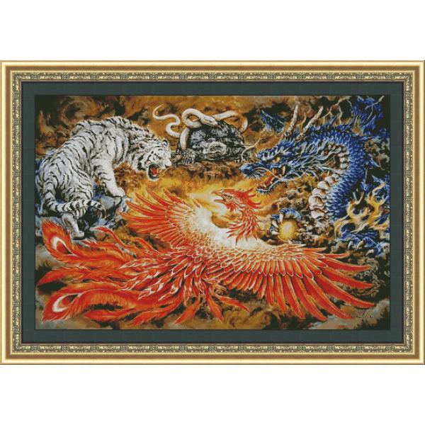 Дракон, Феникс , Тигр ,Змея