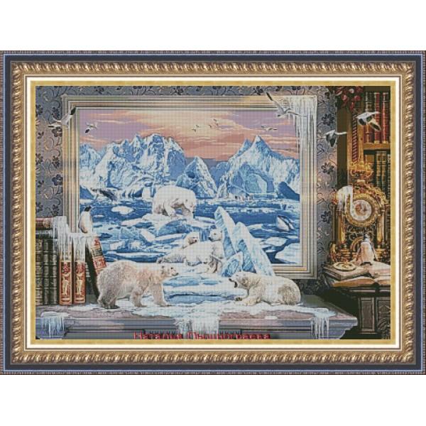 """Набор для вышивки крестом """" Арктика"""""""